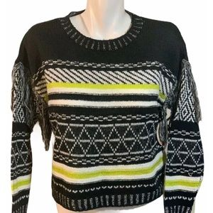 Full Circle Trends Sweater Fringe Junior Small NWT